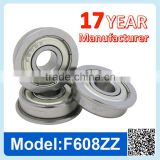 F608 ZZ RS Miniature Flange Ball Bearing Deep Groove Ball Bearing