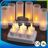 Rechargeable LED Tea Light Candle Yellow Flickering Flamless Candle