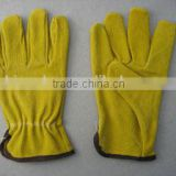 Yellow Pig Split Leather Driver Glove