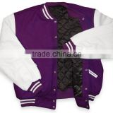 ladies baseball jackets/varsity jackets for girl/college jacket for women