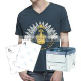 Yesion Laser Printer Self Weeding Transfer Paper (Apaper+Bpaper) ,Dark T-shirts No Cut Transfer Paper
