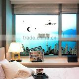 Shanghai Night Scene DIY Removable Wallpaper Fluorescent Luminous Oriental Pearl Wall Stickers Living Room Mural Decal ABQ9636