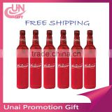 Promotional High Quality Fabric Bottle Holder Lanyard With Zipper