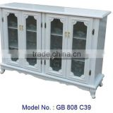 Modern TV Cabinet In MDF Board With Glass, tv cabinet malaysia, laminate tv cabinet, living room lcd tv stand wooden furniture