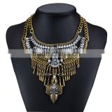 Bohemian Summer Fashion Women Statement Necklace Multi-layers Crystal Glass Gem Pendant Jewelry Collier female