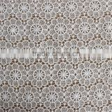 white water soluble embroidery lace milky yarn fabric for dress