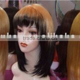 Synthetic Straight Silky Hair Wigs -120g Around For Silky Wigs