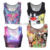 Cheap Breathable Customized Cheerleading Crop Tops Custom Sublimation Printed Tank Top Womens
