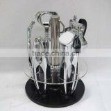 Zinc alloy kitchen accessories with acrylic base