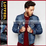 Fashion Vintage Man Denim Jeans jacket Unbranded Jeans Custom jakcet Men Denim Jacket Supplier (LOTJ330)