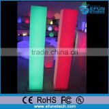Fashionable decorative RGB color led light,battery operated cordless led floor lamp
