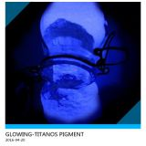 special photoluminescent pigment 20-30um deep blue/violet glowing free other samples available