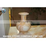 Yellow Onyx marble made Vase