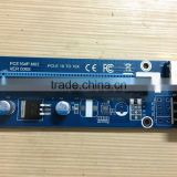 4PIN pcie riser 1x with Power Supply pci-e to pci convert card USB 3.0 Extender Cable Sata to IDE for Bitcoin mining