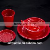 custom Disposable Plastic Plates Cheap Plastic Charger Plate