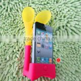 2013 new design silicone football speaker for i phone Silicone mobile phone holder horn stand