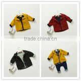 1-6 years 2017 New Wholesale Autumn kids Jacket solid red yellow black pure children clothes