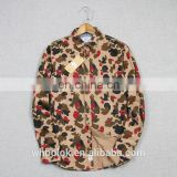 100 cotton printed urban digital military camouflage uniform fabric woven cotton shirt for men