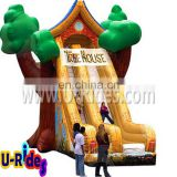 Cartoon tree inflatable slide