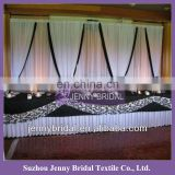 BCK051 New hot sale wedding chiffon and organza white wedding backdrop
