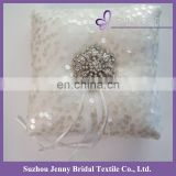 RP04 new ideas sequin tulle fabric ring bearer pillow