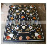 Pietra Dura Black Dining Table Tops