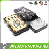 square custom container tin case aluminium tin box