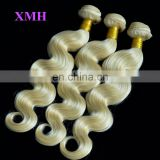 New Arrival Free Sample Brazilian Human Virgin Hair Body Wave Hair Weaving 10a Blonde Hair Bundles
