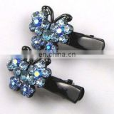 2013 newest fashion alloy butterfly rhinestone hair clip