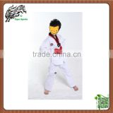 cheap kids shorts sleeve ribbed material taekwondo dobok