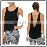 2015 China manufacturer customized ladies sexy racer scoop H back tank tops
