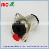 6.35mm 1/4'' mono stereo Female Panel Mount Connector 3 Pole 6.35mm jack connector Solder