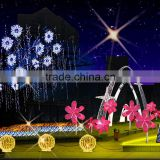 New products 2015 christmas decoration artificial Christmas Across arch Light Christmas light ball with flower