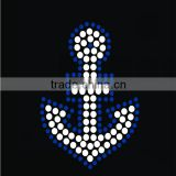 Custom anchor hotfix rhinestone heat transfer design for apparel                                                                                                         Supplier's Choice