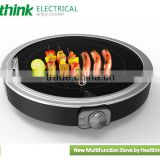 portable electric glass grill , bbq grill