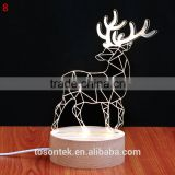 New arrival illusion lamp 3d night light wooden based LED night light