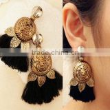 Fringe Tassel Statement Earrings Black Chain Chandelier Earrings Latest Statement Earrings