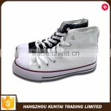 Cheap hot sale top quality plain white canvas shoes                                                                         Quality Choice