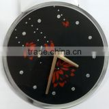 UV Oil 4C Printing Flower Decorative Acrylic Wall Clock