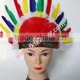Native American Indian Headdress And Goose Feather Carnival Headdress For Wholesale Party Feather