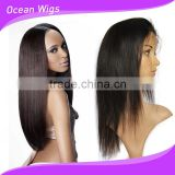 fashion charming 100% Human Hair Remy full lace wig