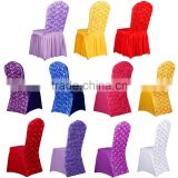 Rose elastic chair cover party chair covers restaurant chair ruffled cheap banquet chair covers