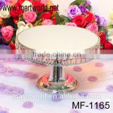 Latest crystal wedding cake stand,mirror&metal&crystal cake stand for wedding decoration,banquet&party occations(MF-1165)