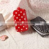 Polka Dot Design Ladies Wash Bag Oil Cloth Waterproof Women Beautiful Cosmetic Bag Customized Accepted More Pattern Contact Us