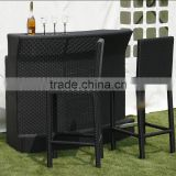 Outdoor Outside Round Resin Wicker Polyrattan Bar Counter