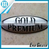 Car metal sticker 3M adhesive back metal sticker badge 3m tape metal badge