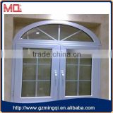 arch upvc casement window with grills Factory in Guangzhou