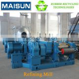 high tensile strength reclaimed rubber refiner mill; odorless reclaimed rubber making machine