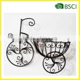 YS91281 Metal bicycle decoration flower pot tray