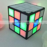 The gift MiniRubik's Cube Shape Carton Wireless Portable Bluetooth Speaker with LED Flash Light